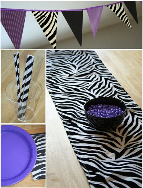 zebra table decoration for party photograph zebra print pa