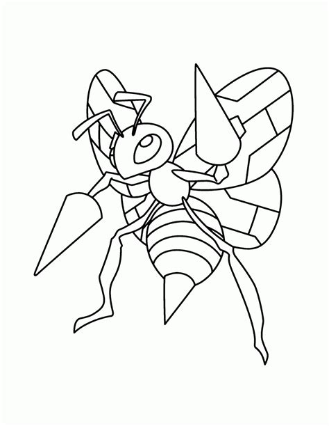 pokemon coloring pages beedrill sonhar e brincar weedle pokemon