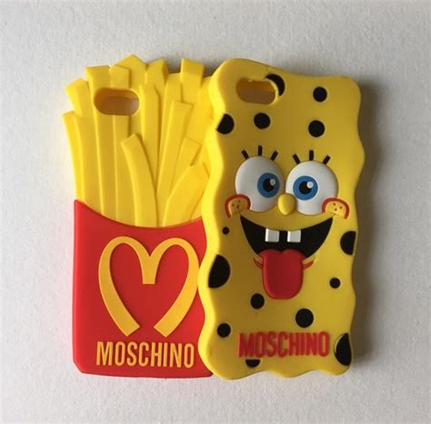 Casing Softcase Fresh Moschino Iphone 6 Plus new spongebob phone cover soft moschino iphone 4 4s iphone 5 5s phone