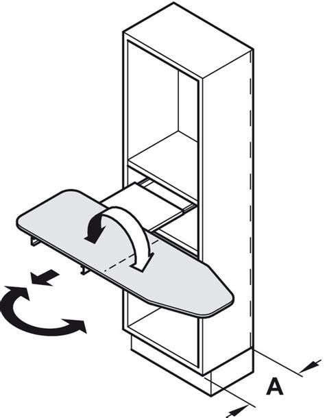 ironing board drawer hafele hafele ironfix 174 ironing board shelf mounted in the