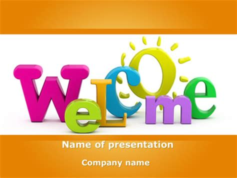 Welcome Presentation Template For Powerpoint And Keynote Welcome Templates For Ppt