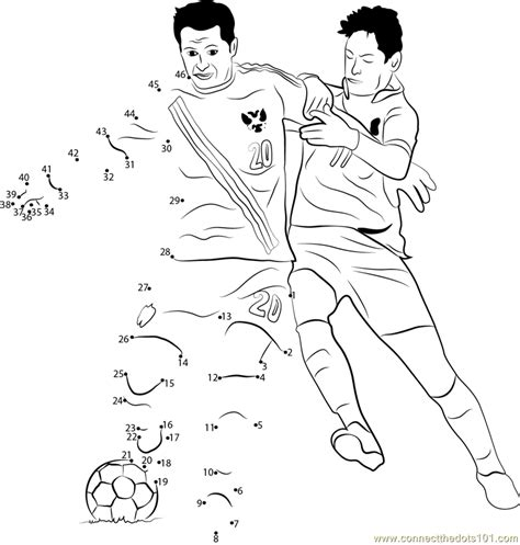 printable dot to dot sports russia football dot to dot printable worksheet connect