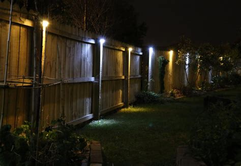 solar fence lighting two solar led fence lights grabone nz