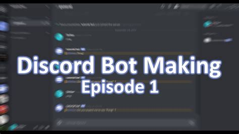 Discord Bot Tutorial | discord bot making tutorial discord js episode 1