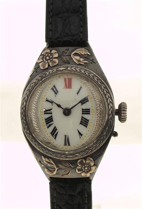 jugendstil len antique wristwatch nouveau switzerland 935er silver