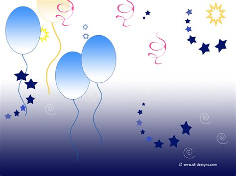 background design for email party desktop wallpaper balloons and stars