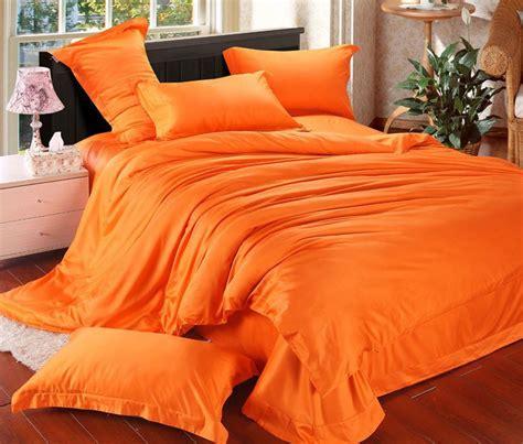 Bed Cover Set New Aliya new arrival bedspread orange color duvet cover king size bedding set bed linen bed