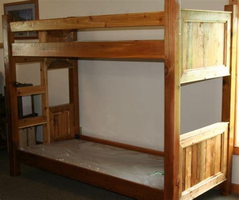 wood bunk bed log furniture barnwood furniture rustic furniture
