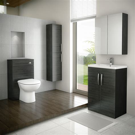 Black Bathroom Furniture Uk Floor Standing 2 Door Vanity Unit Hacienda Black