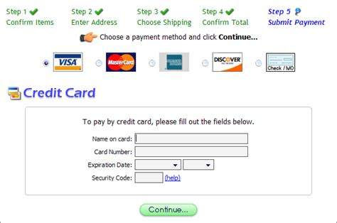 Credit Card Template In Html Template Guide Payment