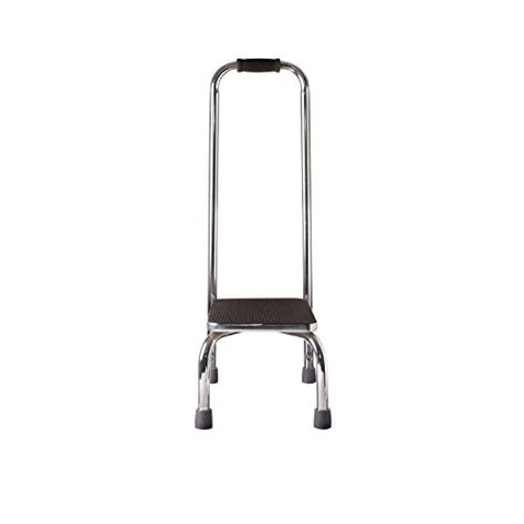 Step Stool With Handle by Duro Med Step Stool With Handle Silver And Black