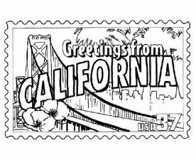 california coloring pages 50 best images about greetings from the states on