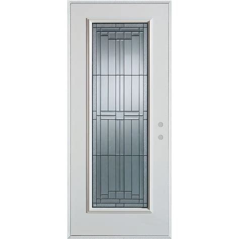 32 Exterior Doors Stanley Doors 32 In X 80 In Architectural Lite Painted White Steel Prehung Front Door
