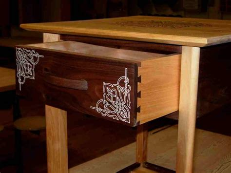 epoxy inlay  table finewoodworking