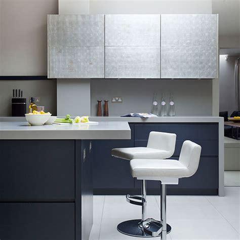 Kitchen Cabinets Glazed by Modern Blue Black Kitchen Kitchen Tour Ideal Home