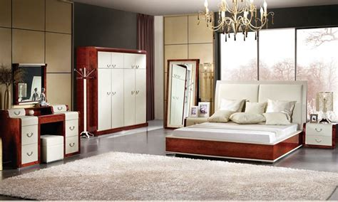 italian design bedroom furniture bed wadrobe nighstand