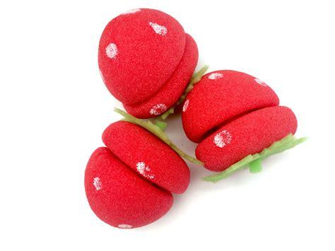 Curler Strawberry High 2 1 20x foam strawberry balls soft sponge hair curlers