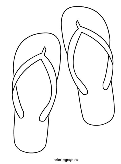 flip flop template flip flops coloring pages az coloring pages