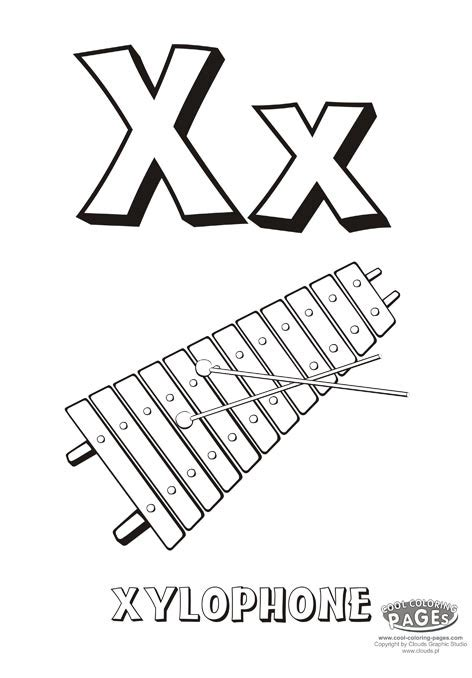 Letter X Educational Coloring Alphabet My Coloring Letter X Coloring Page