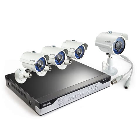 zmodo 8ch h 264 960h home security system with 4 700tvl ir