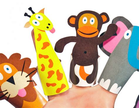 How To Make Animal Puppets For With Paper - jungle animals paper finger puppets printable pdf pukaca