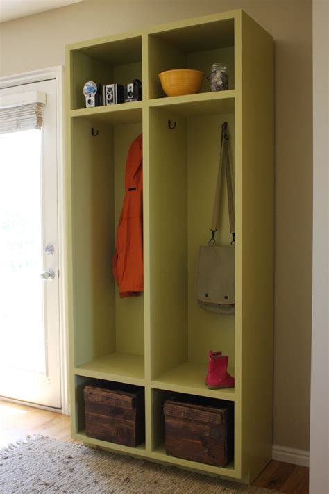 Garage Redesign mudroom storage lockers woodworking plans