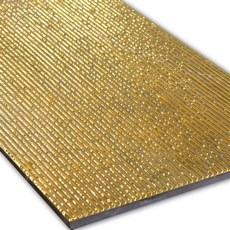 fliese 30x60 wall decor tiles gold ribbed 30x60cm www mosafil co uk