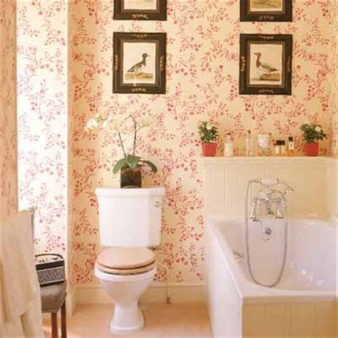wallpaper ideas for small bathroom stylish bathroom decorating ideas soft pink walls