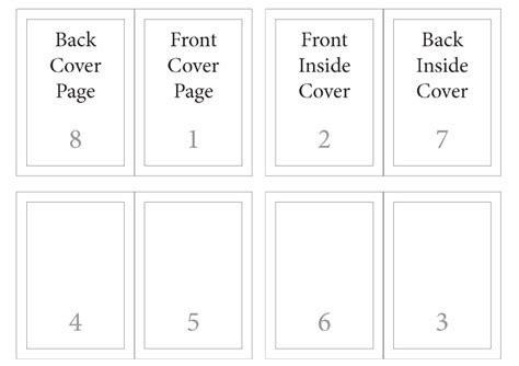 8 page foldable booklet template print design setting up a5 landscape brochure layout in