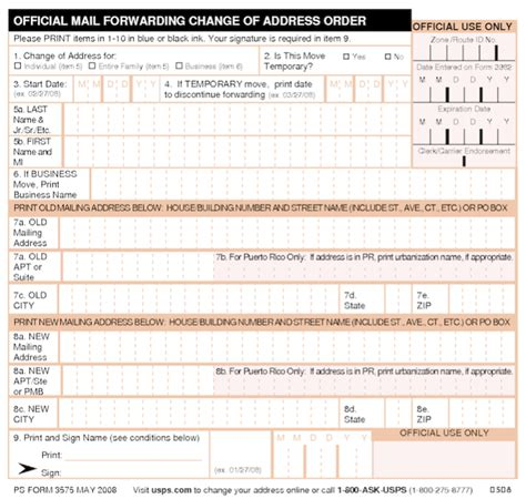 Address Search Usps Usps Change Of Address Form Printable My