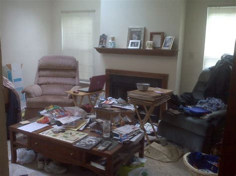 cluttered living room 5 signs you may be chronically disorganized and what you