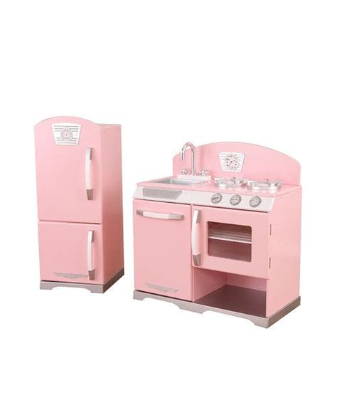 Kitchen Set Pink pink stove refrigerator retro kitchen set