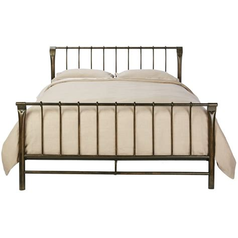 brass beds home decorators collection marquette antique brass queen