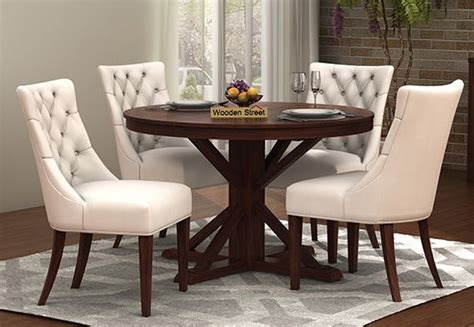 White Dining Table India 4 Seater Dining Table Set Dining Table Four Seater Set Woodenstreet