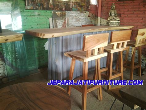 Meja Bar meja bar kayu alami trembesi jepara jati furniture