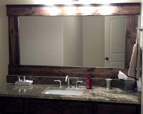 Bathroom Mirror Wood Frame Kits 17 Best Ideas About Frame Bathroom Mirrors On