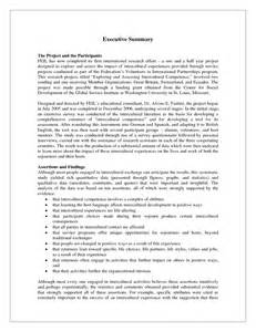 best executive summary template project executive summary exle anuvrat info
