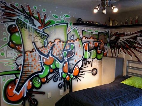 graffiti wallpaper bedroom 258 best urban art interiors images on pinterest