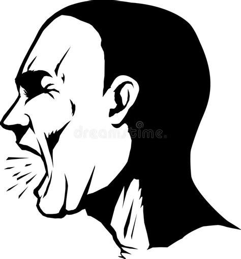 clipart uomo urlo dell uomo illustrazione vettoriale illustrazione di