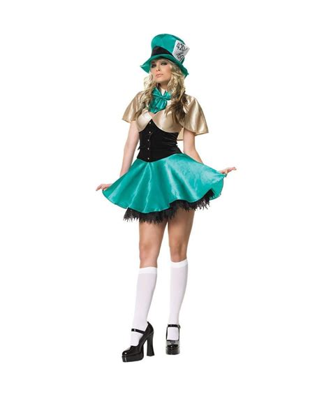 alice in wonderland mad hatter tea party hostess with tea party hostess disney costume for adult sexy costumes