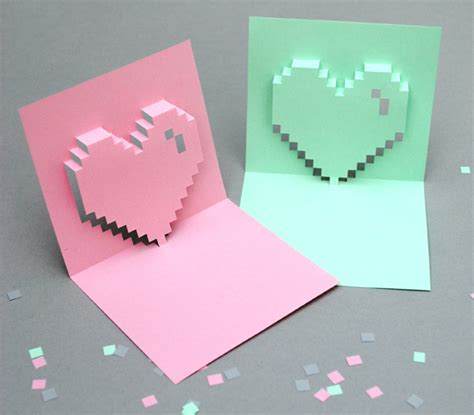 how to make a pop up valentines card how to make pop up cards images
