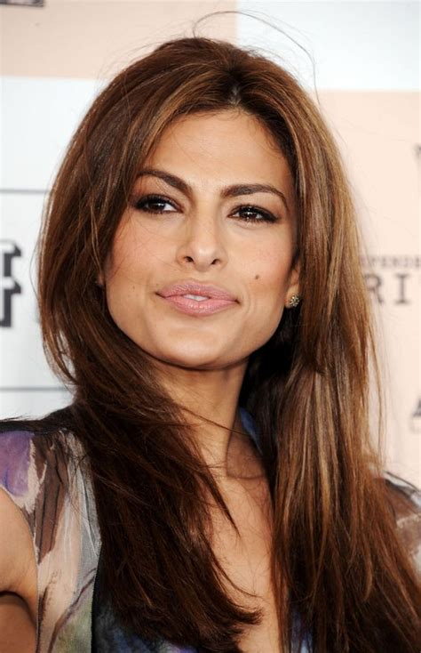 eva mendes chestnut hair color hair styles pinterest