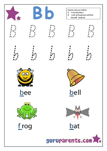 worksheets for preschool letter b preschool worksheets guruparents