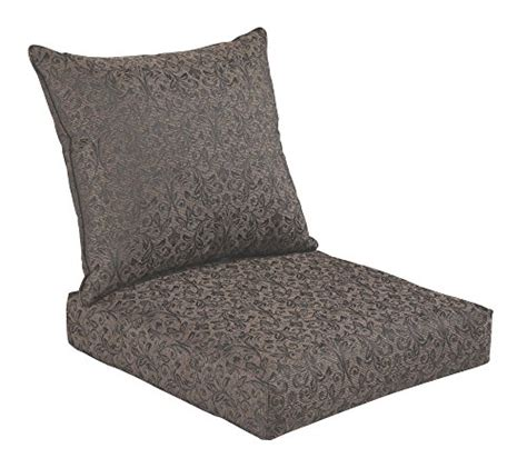 30 inch bench cushions indoor bossima indoor outdoor black gold damask seat chair
