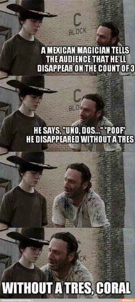 Carl Walking Dead Meme - without a tres coral carl know your meme