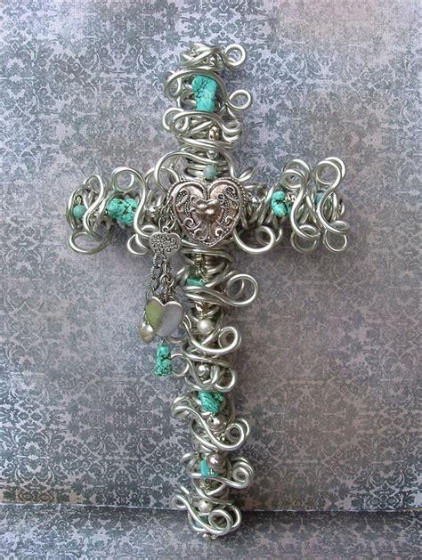 wire bead cross diy wire jewelry