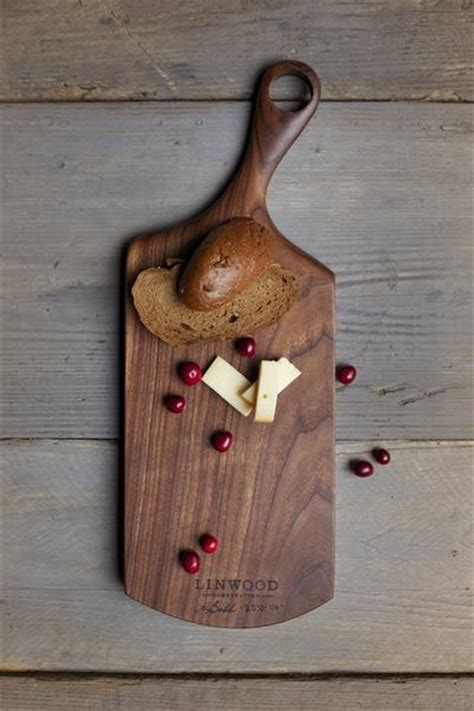 Handcrafted Wood Items - 114 black walnut cutting board linwood