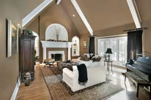 Cathedral Ceiling Living Room 75 Formal Casual Living Room Designs Furniture