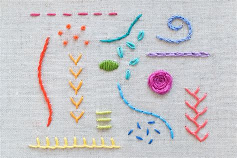 design for embroidery stitches learn 15 essential hand embroidery stitches