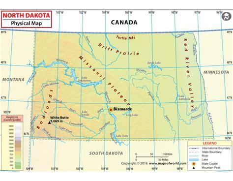 physical map of dakota buy dakota physical map